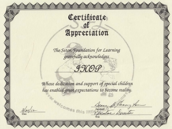 Seton Foundation for Learning Award